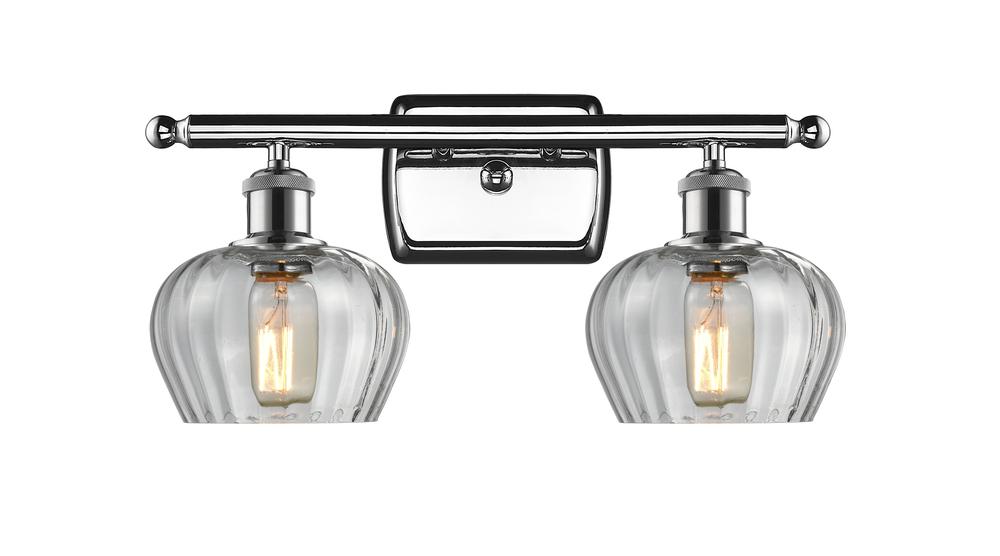 2 Light Fenton 16 inch Bathroom Fixture : 516-2W-PC-G92 | Innovations
