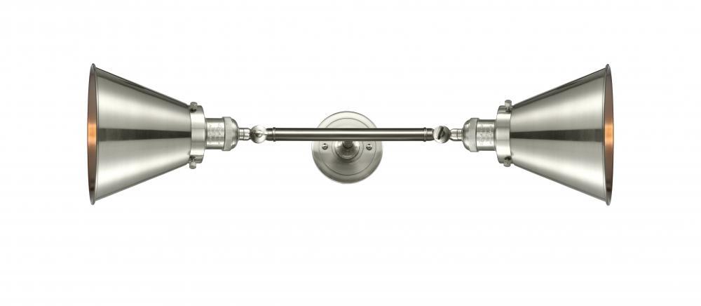 Innovations 208L-SN-M13-SN 2 Vertical Bath Vanity Light Brushed Satin Nickel