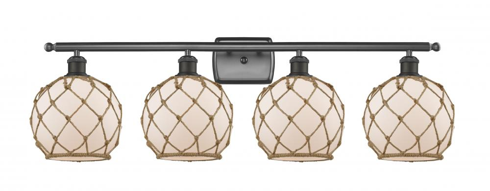 Farmhouse Rope 3 Light Bath Vanity Light 516 4w Ob G121 8rb Innovations